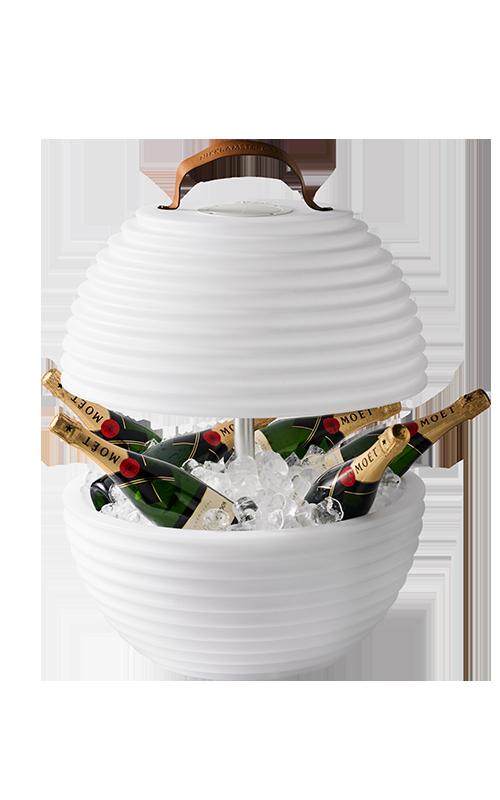 The Bowl van Nikki.Amsterdam - Multicolor Bowl, Bluetooth Speaker Lamp & Wijnkoeler