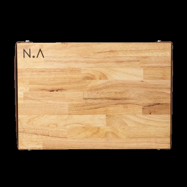 The.Board Rubberwood, serveerplank, decoratieplank, snijplank, tapas of kaasplank van Nikki.Amsterdam