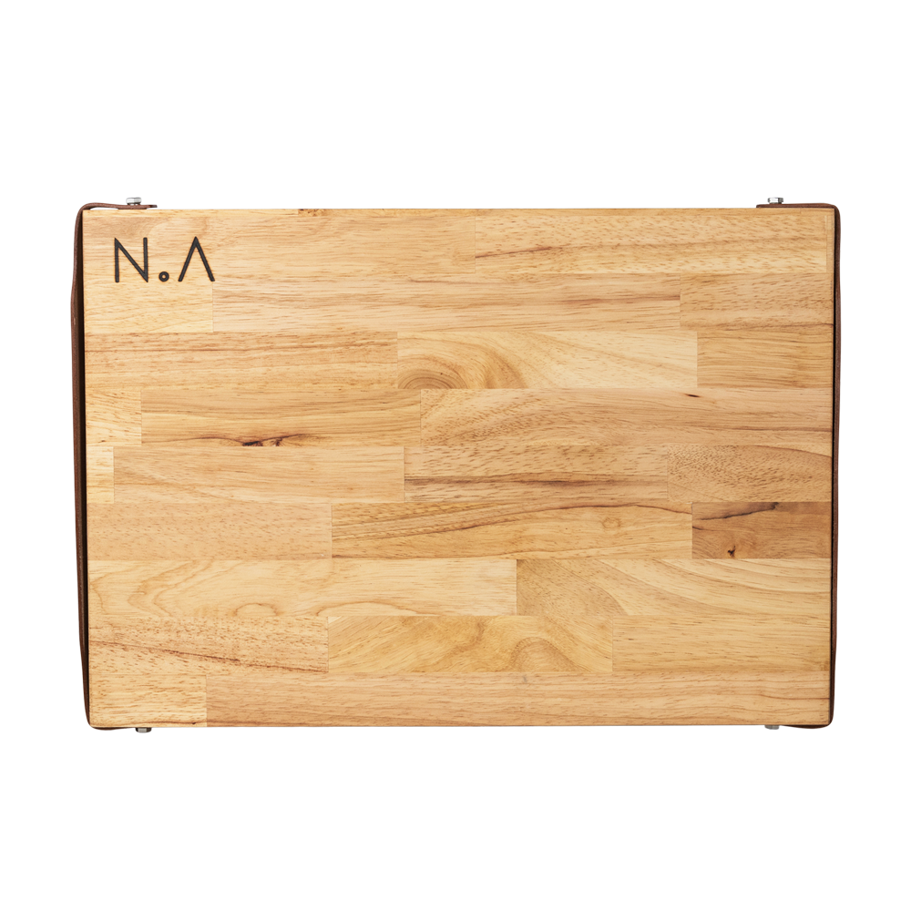 The.Board Rubberwood, serveerplank, decoratieplank, snijplank, tapas of kaasplank van Nikki.Amsterdam